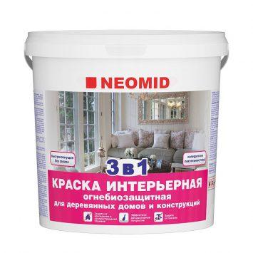 Антисептик-краска 3 в 1 огнезащитный Neomid